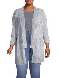 Plus Knitted Cardigan