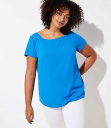 LOFT Plus Pleat Back Clean Tee