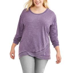 Women's Plus Asymmetrical Hem Sweatshirt