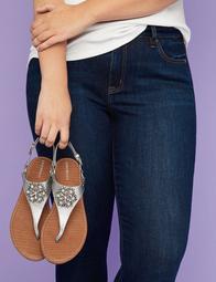 Metallic Embellished Harness Sandal