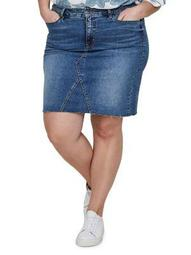 Plus Sanne Denim Above The Knee Skirt