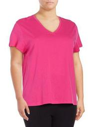 Plus Solid V-Neck Tee