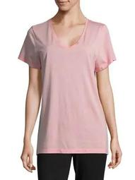 Plus Solid Short-Sleeve V-Neck Tee