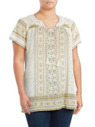Plus Embroidered Sleeveless Top