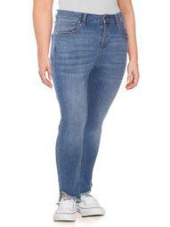 Plus Plus Raw-Hem Skinny Jeans