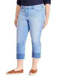 Plus Ultimate Slimming Premier Straight Cropped Jeans
