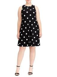 Plus Polka Dot A-Line Dress