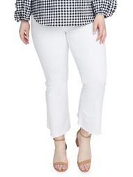 Plus Frayed Wrap Cropped Jeans