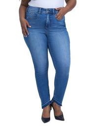Plus Step-Hem Skinny Jeans