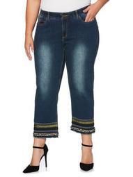 Plus Dusk Hem Jeans