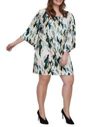 Plus Kirpa Quarter-Sleeve Above The Knee Dress