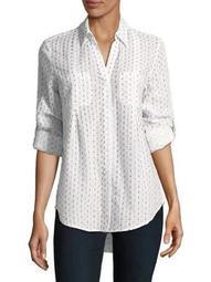 Plus Nancy Printed Button Front Shirt