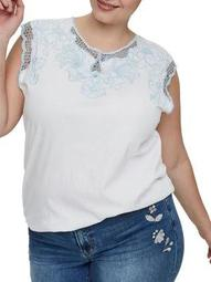 Plus Lily Sleeveless Cotton Top