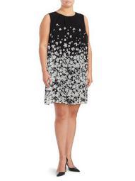 Plus Floral Printed Sleeveless Dress