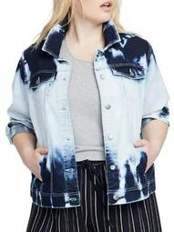 Plus Cloud Wash Denim Jacket