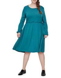 Plus Nectaria Long Sleeve Dress