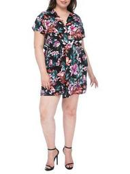 Plus Plus Aniyah Twist-Front Woven Dress