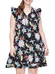 Plus Nazaria Sleeveless Short Dress