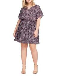 Plus Sachi Paisley-Print Dress