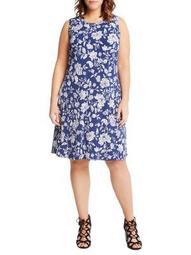 Plus Floral Halter Dress