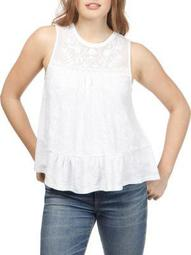 Plus Tiered Sleeveless Knit Top