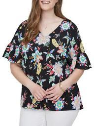 Plus Nazaria Short-Sleeve Blouse