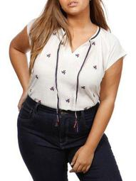 Plus Americana Embroidered Top