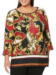 Plus Printed Tunic