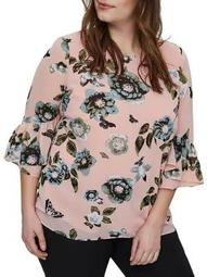 Plus Amara Quarter-Sleeve Blouse