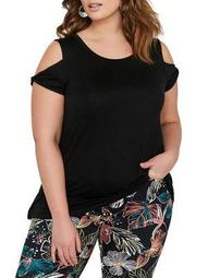Plus Twisted Cold-Shoulder Top