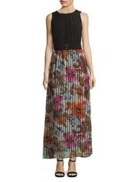 Plus Two-Piece Top and Floral Skirt Set