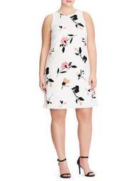 Plus Printed Sleeveless Day Dress