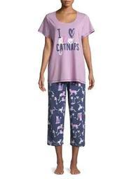 Plus Catnaps Capri Pajamas