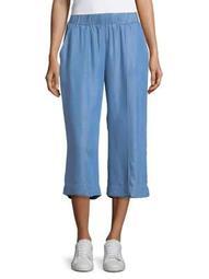 Plus Chambray Culotte Pants