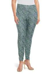 Plus Womens Tiny Wildflower-Print Leggings