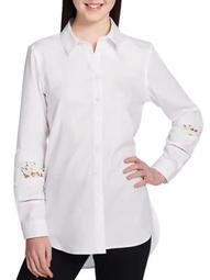 Plus Button-Down Lacework Shirt