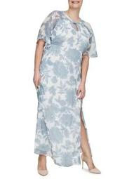 Plus Amia Risia Short-Sleeve Maxi Dress