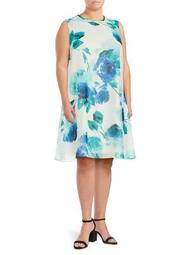 Plus Floral Shift Dress