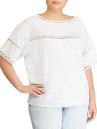 Plus Classic Eyelet Top