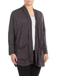 Plus Hacci-Knit Open Cardigan
