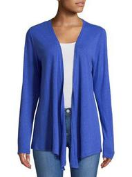 Plus Draped Open Front Cardigan