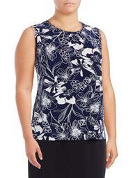 Floral-Print Sleeveless Top