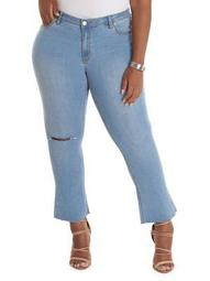 Plus Cropped Flare Jeans
