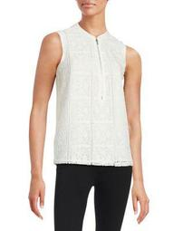 Plus Sleeveless Textured Blouse