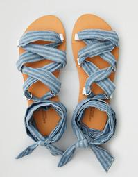 AEO D-Ring Lace Up Sandal