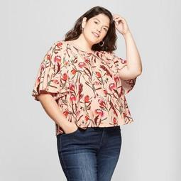 8343185028a Ava   Viv™ Women s Plus Size Floral Print Soft Woven Short