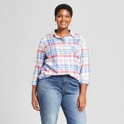 717edda273464 Ava & Viv™ Women's Plus Size Plaid Long Sleeve Button-Down
