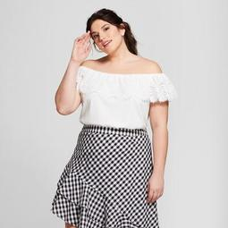 Women's Plus Size Off the Shoulder Lace Top - A New Day™