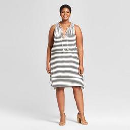 Women's Plus Size Striped Knit Sundress - Ava & Viv™