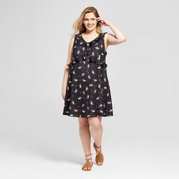Women's Plus Size Floral Print Ruffle Knit Sundress - Xhilaration™